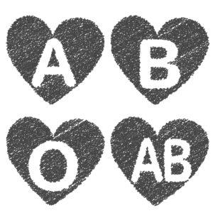 血液型 A型B型O型AB型